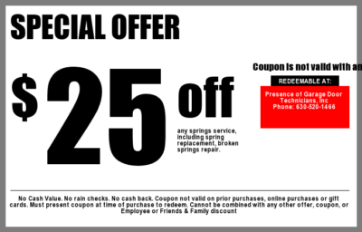 Garage Door Coupons Aurora IL